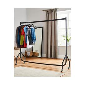 image-Heavy Duty Steel Hanging Clothes Rail