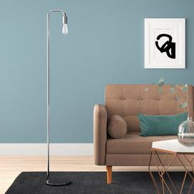 image-Adelaide 160cm Reading Floor Lamp Hykkon Base Finish: Silver