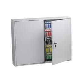 image-Phoenix KC0607K 600 Hook Key Commercial Key Cabinet With Key Lock, Light Grey