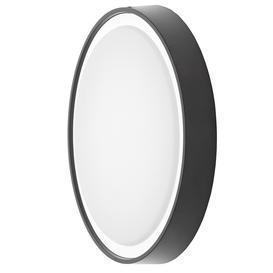 image-Newton 31cm Outdoor LED Round Flush Wall Light - Black