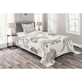 image-Forehand Jurassic Bedspread Set with Cushion Cover Ebern Designs Size: W175 x L220cm