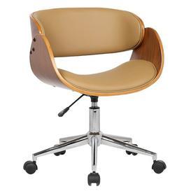 image-Lomax Ergonomic Desk Chair Blue Elephant Upholstery Colour: Natural