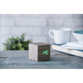 image-Modern Digital Wood Electric Alarm Tabletop Clock Symple Stuff Finish: Ash/Green