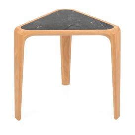 image-De La Espada Mary's Table Oak & Black Marble