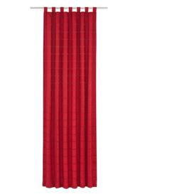 image-Shire Tab Top Room Darkening Curtain Ophelia & Co. Colour: Red, Panel Size: 132 W x 145 D cm