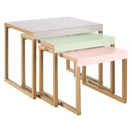 image-Kilo Multi-Coloured Metal Nest Of 3 Side Tables, Grey