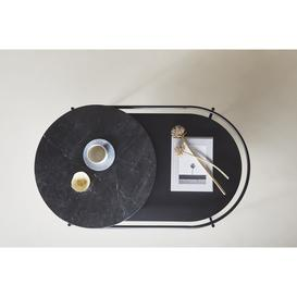 image-Verde Marble Top Coffee Table, Black