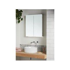 image-John Lewis & Partners Aspect Double Mirrored and Illuminated Bathroom Cabinet
