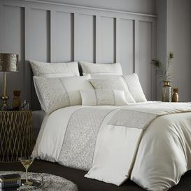 image-Comer 180 TC Duvet Cover Set Rosdorf Park Colour: Cream, Size: Super King - 2 Standard Pillowcases