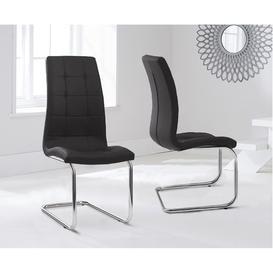 image-Lucy Hoop Leg PU Black Dining Chairs (Pair)