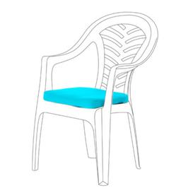 image-Resol Palma Garden Dining Chair Cushion Sol 72 Outdoor Colour: Turquoise