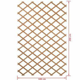 image-Beiler Wood Expanding Trellis Sol 72 Outdoor Colour: Brown