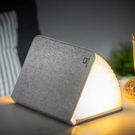 image-Gingko - Linen Large Smart Book Light - Urban Grey