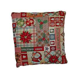 image-Festive Christmas Cushions - Patchwork Design 2 for £10