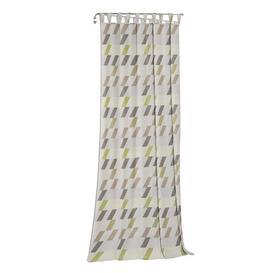 image-Lopez Tab Top Blackout Single Curtain Mercury Row Curtain colour: Green/Beige/Grey, Size: 225cm H x 132cm W