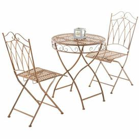 image-Elisa 2 Seater Bistro Set Sol 72 Outdoor Colour: Brown