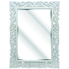 image-Alena Rectangle Metal Mirror Fairmont Park Finish: Cream