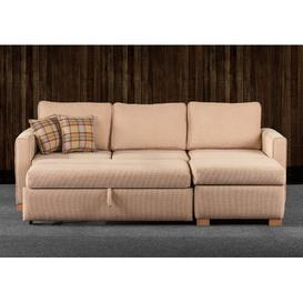 image-Holtz Reversible Sleeper Corner Sofa Bed Ebern Designs Upholstery Colour: Sand