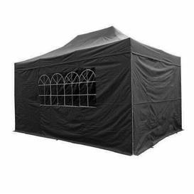 image-ZiZi 3m x 4.5m Pop Up Gazebo Sol 72 Outdoor Roof Colour: Black