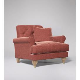 image-Swoon Sidbury Armchair in Pimpernel Smart Wool With Short Light Feet