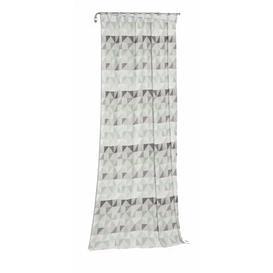 image-Gareth Tab Top Room Darkening Single Curtain Mikado Living Curtain colour: Light green/Grey, Size: 145cm H x 132cm W