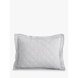 image-Pottery Barn Kids Linen Cushion Cover, Grey