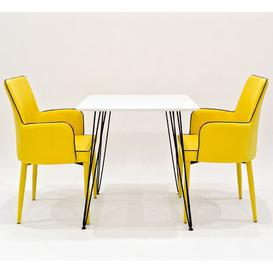 image-Voris Dining Set with 2 Chairs Rosalind Wheeler Chair Colour: Yellow