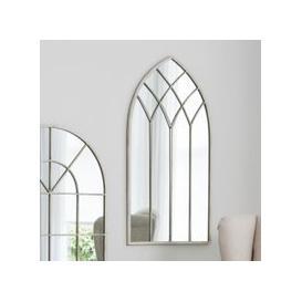 image-Gallery Direct Roebuck Arched Window Pane Cream Mirror