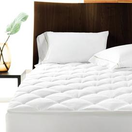 image-Anim Quilted Extra Deep Fitted Mattress Protector Symple Stuff Size: Small Single (2'6)