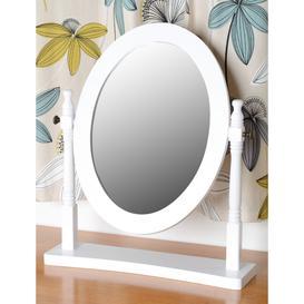 image-Contessa Dressing Table Mirror in White