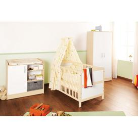 image-Florian Cot Bed 3-Piece Nursery Furniture Set Pinolino Size (Changing Unit): Wide (H 90cm x W 100cm x D 75cm), Size (Wardrobe): 2-door (H 180cm x W 80