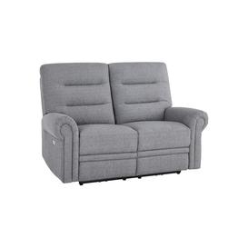 image-Santos Steel Fabric Sofas - 2 Seater Electric Recliner Sofa - Eastbourne Range - Oak Furnitureland