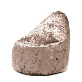 image-Crushed Velvet Look 'Bijou' Gaming Bean Bag Lounger Rosdorf Park Upholstery Colour: Chocolate