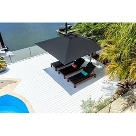 image-2.8m Square Cantilever Parasol Symple Stuff Colour: Black, Base Type: In-ground Fitting
