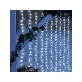 image-240 White Led Waterfall Indoor/Outdoor Christmas Lights