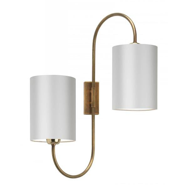 image-Heathfield & Co Bronte antique brass wall light