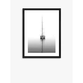 image-Yacht - Framed Print & Mount, 66 x 52cm, Black/White