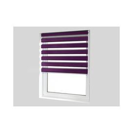 image-Day and Night Semi-Sheer Pleated Blind Ebern Designs Finish: Purple, Size: 150 cm L x 110 cm W