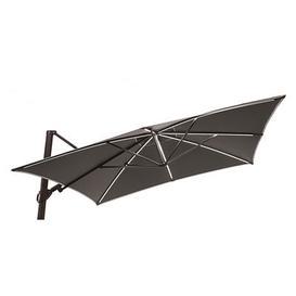 image-Easy Shadow Offset umbrella - LED / 300 x 300 cm by Vlaemynck - Parasol base sold separately Charcoal grey,Slate grey