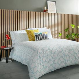 image-Orla Kiely - Linear Stem Duvet Cover - Neptune Blue - King