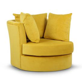image-Lionel Tub Chair Mercury Row Upholstery Colour: Gold