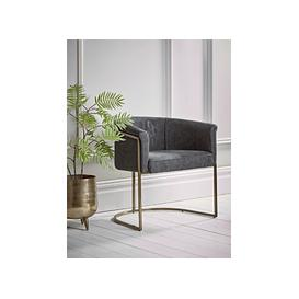 image-Faux Leather Tub Chair