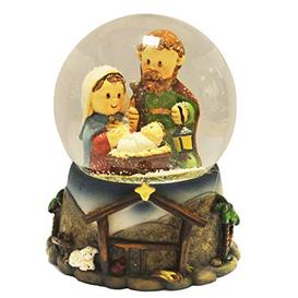 image-Hand Painted Christmas Nativity Scene Mini Snow Globe
