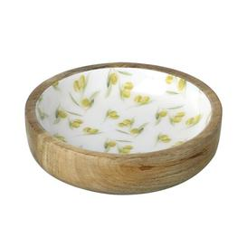 image-Speight Decorative Bowl Bloomsbury Market Colour: White/Green
