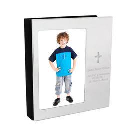 image-Personalised Cross Photo Frame Photo Album