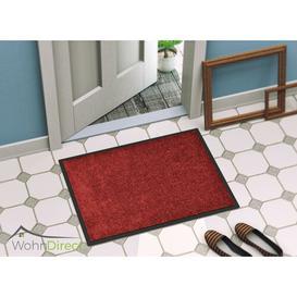 image-Doormat Symple Stuff Mat size: Rectangular, 70cm L x 50cm W, Colour: Red