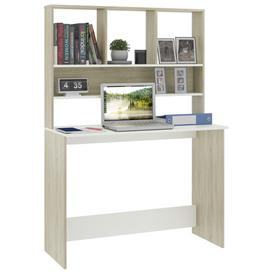 image-Frogertha Executive Desk Ebern Designs Colour: White/Oak