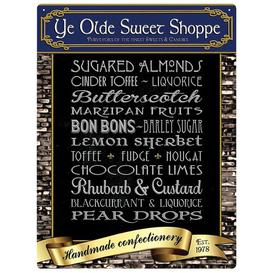 image-Ye Olde Sweet Shoppe Metal Wall Decor Happy Larry