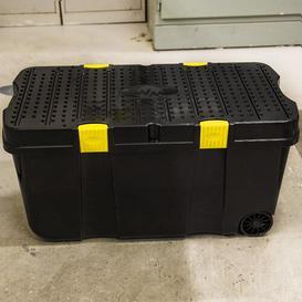 image-Diy Tough Cart Recycled 100 L Plastic Storage Box Rebrilliant