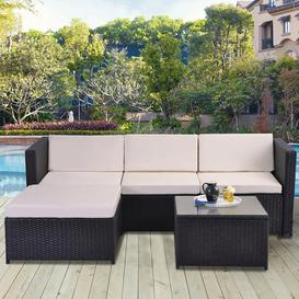 image-Abhigna 4 Seater Rattan Garden Corner Sofa Set